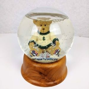 Eddie Bauer Teddy Bear Snow Globe
